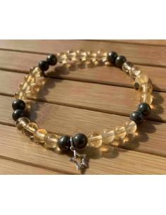 Bracelet Chance Abondance Citrine Pyrite Lithotherapie