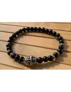 Bracelet Personnalisé Bouddha Argent 925 Lithotherapie