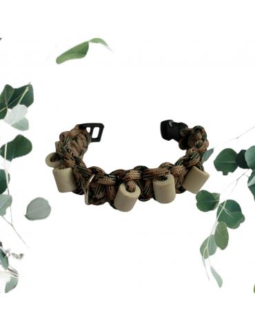 Collier Céramique Chien Chat Anti Puces et Tiques Paracorde Lithothérapie